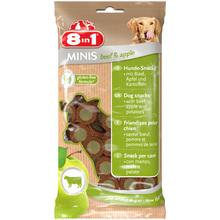 8IN1 Minis Wołowina z jabłkiem - smakowity przysmak dla Twojego psa w postaci mięsnych krążków, 100g