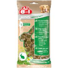 8IN1 Minis Królik z ziołami - smakowity przysmak dla Twojego psa w postaci mięsnych krążków, 100g