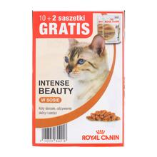 ROYAL CANIN Intense Beauty MEGAPAKA - karma dla dorosłych kotów na skórę i sierść, saszetki w sosie, 10+2 GRATIS!