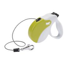 FERPLAST AmiGo Mini – nowoczesna smycz automatyczna, linka, biało/zielona