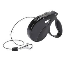 FERPLAST AmiGo Mini – nowoczesna smycz automatyczna, linka, czarno/czarna