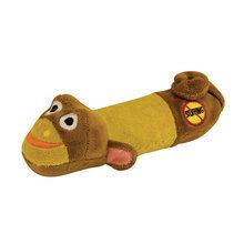 PETSTAGES Mini Stuffing Free Monkey - zabawka z piszczałką dla małego psa, pluszowa małpka