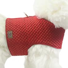 OSSO DI CANE Quilted Red - pikowany kubraczek dla psa, czerwony
