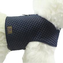 OSSO DI CANE Quilted Navy Blue - pikowany kubraczek dla psa, ciemno/niebieskie