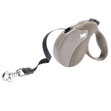 FERPLAST AmiGo Medium – nowoczesna smycz automatyczna, taśma, brązowo/beżowa