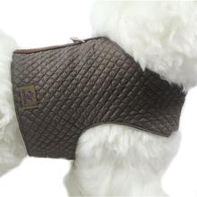 OSSO DI CANE Quilted Beige - pikowany kubraczek dla psa, brązowy
