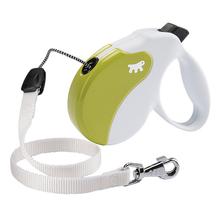 FERPLAST AmiGo Medium – nowoczesna smycz automatyczna, linka, biało/zielona