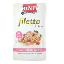 RINTI Filetto in Sauce - mokra karma z kurą i cielęciną dla psów, saszetka 125g
