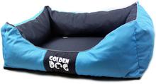 GOLDEN DOG Kwadrat - legowisko dla psa niebiesko/granatowe