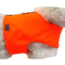 OSSO DI CANE Neon Orange - odblaskowy kubraczek dla psa, pomarańczowy