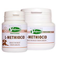 VETFOOD L-Methiocid - preparat dla psów i kotów z kamicą struwitową i bakteryjnymi zakażeniami dolnych dróg moczowych, 30 kapsułek
