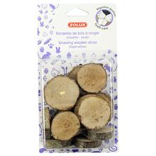 ZOLUX Drewniane krążki - gryzak dla gryzoni, 100g