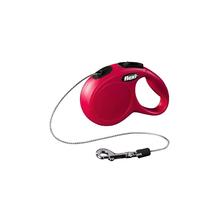 FLEXI New Classic S - smycz automatyczna linka 5m, czerwona