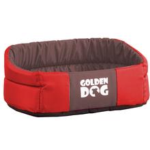 GOLDEN DOG Pianka - legowisko dla psa, czerwono/brązowe