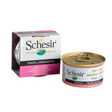 SCHESIR Tuńczyk z szynką w Galaretce - 100% naturalna karma dla kotów, puszka 85g
