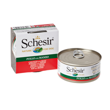 SCHESIR Filety z Kurczaka z Wołowiną w galaretce - 100% naturalna karma dla psów, puszka 150g