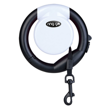 VITAKRAFT Ring Go – funkcjonalna smycz automatyczna, biała