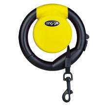 VITAKRAFT Ring Go – funkcjonalna smycz automatyczna, żółta