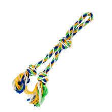 RIGA podwójny sznur z uchwytem dla psa, niebiesko/zielono/żółty