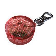 TRIXIE Flasher - okrągła, świecąca zawieszka z adresówką do obroży dla psa lub kota, czerwona