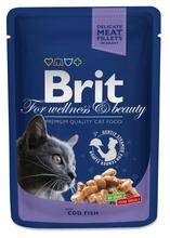 BRIT Premium Dorsz w Sosie - karma dla kotów, saszetka 100g