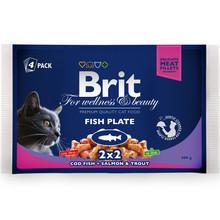 BRIT Premium Fish Plate - karma dla kotów, rybny multipack 400g