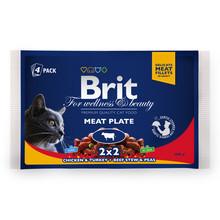 BRIT Premium Meat Plate - karma dla kotów, mięsny multipack 400g