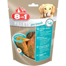 8IN1 Fillets Pro Breath- filety z kurczaka na świeży oddech dla psów 80g + losowe opakowanie filetów GRATIS!