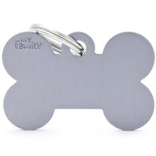 MY FAMILY Bone Grey - aluminiowa adresówka dla psa