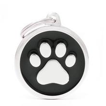 MY FAMILY Circle Paw Black - adresówka dla psa