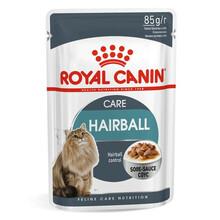Royal Canin Hairball Care - mięsne kawałki w smakowitym sosie dla kotów, przeciwdziałanie kulom włosowym, 85g