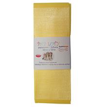 Papiloty papierowo-foliowe, rozmiar 33 cm x 12 cm, kolor żółty
