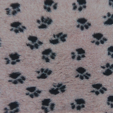 Dry Bed z motywem psich łapek, beżowy