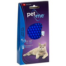 Pet+Me Silicon Brush Blue - szczotka, zgrzebło silikonowe do pielęgnacji kotów krótkowłosych