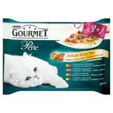 Purina Gourmet Perle Delikatny Mięsny Duet - karma dla kota, 3+1