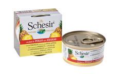 SCHESIR Filety z kurczaka z ananasem - 100% naturalna karma dla kotów, puszka 75g