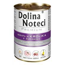 DOLINA NOTECI Królik z Żurawiną - mokra karma dla psów dorosłych, 400g i 800g