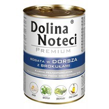 DOLINA NOTECI Dorsz z Brokułami - mokra karma dla psów dorosłych, 400g i 800g