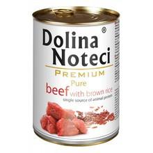 DOLINA NOTECI Pure Wołowina z brązowym ryżem - mokra karma dla psów dorosłych,