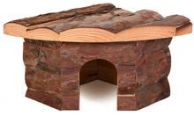TRIXIE JESPER drewniany, narożny domek dla gryzoni, dostępny w trzech rozmiarach