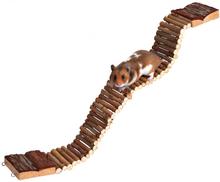 TRIXIE drabinka dla gryzoni, drewniany, wiszący mostek