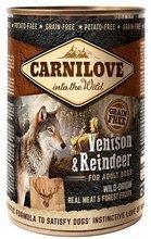 CARNILOVE WILD MEAT VENISON & REINDEER - jeleń i renifer - Mokra karma dla psów dorosłych, 400g