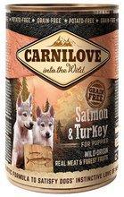 CARNILOVE WILD WET SALMON & TURKEY FOR PUPPIES - indyk i łosoś - Mokra karma dla szczeniaków, 400g