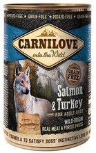 CARNILOVE WILD WET SALMON & TURKEY FOR ADULT DOGS - indyk i łosoś - Mokra karma dla dorosłych psów, 400g