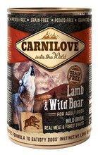 CARNILOVE WILD WET LAMB & WILD BOAR FOR ADULT DOGS - jagnięcina i dzik - Mokra karma dla dorosłych psów, 400g