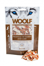 Woolf Triangle of Rabbit and Cod - przysmak dla psa, trójkąciki z królika i dorsza, 100g