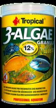 TROPICAL 3-ALGAE GRANULAT - pokarm w formie wolno tonącego granulatu, bogaty w algi