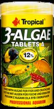 TROPICAL 3-ALGAE TABLETS A - Pokarm z algami dla ryb i skorupiaków