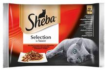 SHEBA SELECTION - mięsne dania w sosie, 4 x 85g