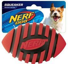 NERF - Dog Squeak Spiral Football - Piłka do footballu amerykańskiego - zabawka dla psa